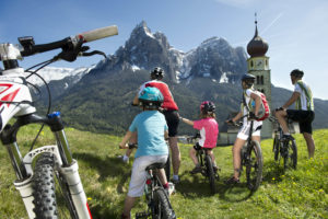 Mountainbiken in Seis am Schlern